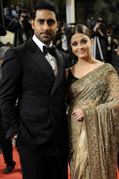 Aish and Abhi at Cannes Film Festival For Ravan
