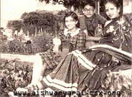 Aishwarya Childhood Picture