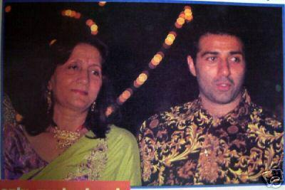 Sunny Deol With His Mom Latest Still