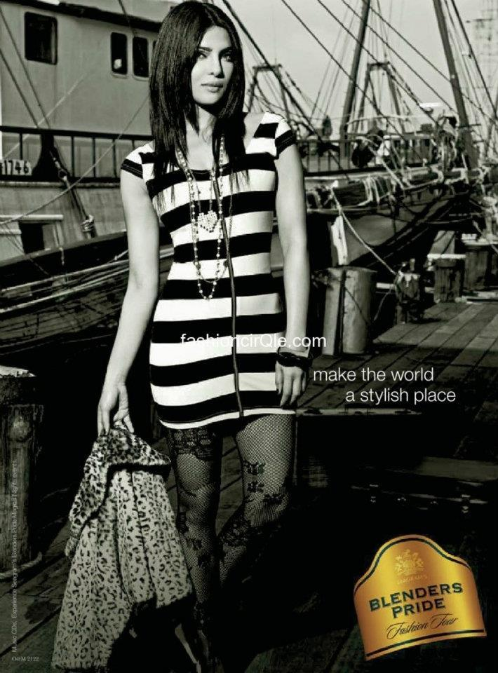 Priyanka Chopra's Print Ad for Blender's Pride Fashion Tour