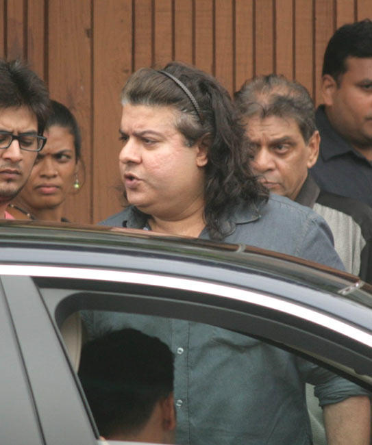 Director Sajid Khan Arrives to Pay Tribute To Rajesh Khanna at Actor's Bandra Residence