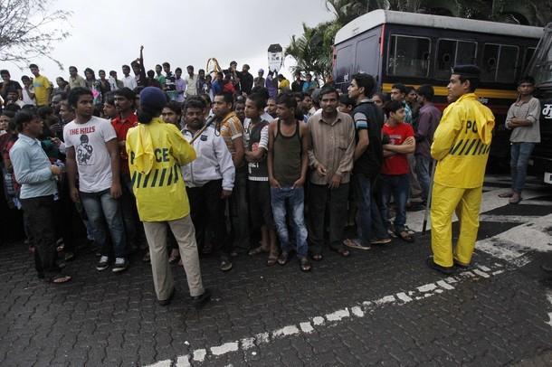 Fans Gather Outside Aashirwad