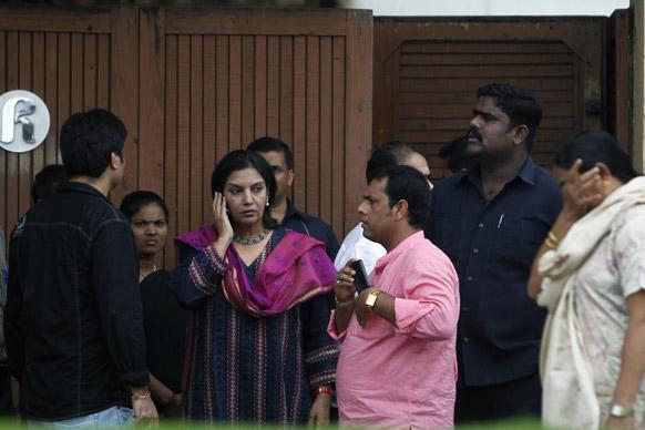 Shabana at Kaka's Funeral
