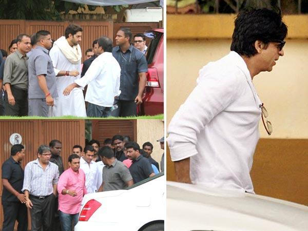 SRK, Abhishek and Salman Pay Respect to Kaka
