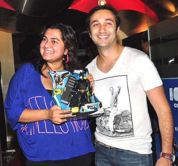 Divya Palat and Aditya Hitkari at the Dark Knight Rises Screening