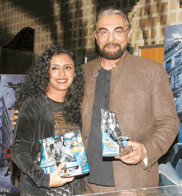Parveen Dusanj and Kabir Bedi at the Dark Knight Rises Screening