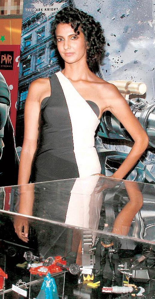 Poorna Jagannathan at the Dark Knight Rises Screening