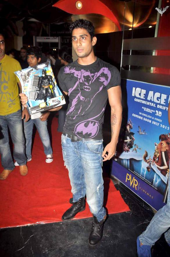 Prateik Babbar at The Dark Knight Rises Screening