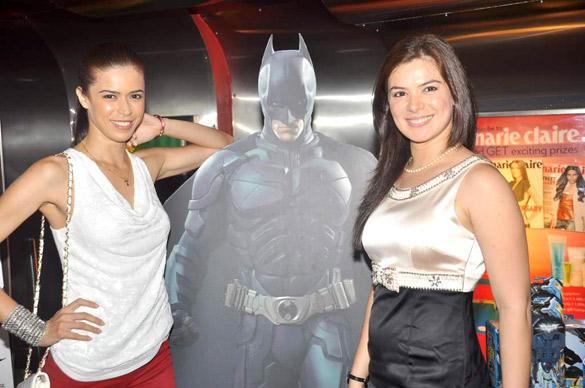 Urvashi and Sucheta Sharma Strikes a Pose During The Dark Knight Rises Screening