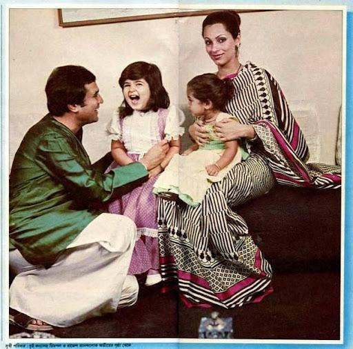 Rajesh Khanna With His Sweetest Family