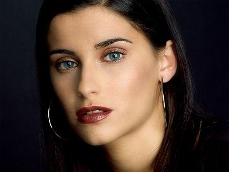 Canadian Pop Star Nelly Furtado Green Eyes Look Still