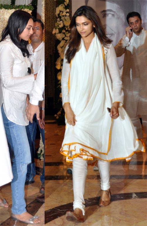 Deepika Padukone at Rajesh Khanna's Chautha Ceremony