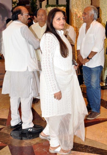 Jaya Pradha at Rajesh Khanna's Chautha Ceremony