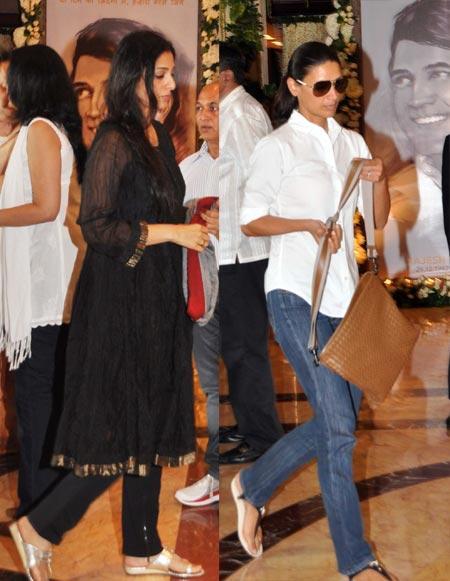 Tabu Khan Snapped at Rajesh Khanna's Chautha Ceremony