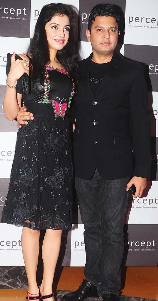 Divya Kumar and Bhushan Kumar at Percept Excellence Awards In Mumbai