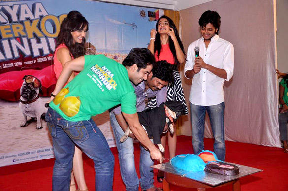 Dog Fakhru Cake Cutting Pic