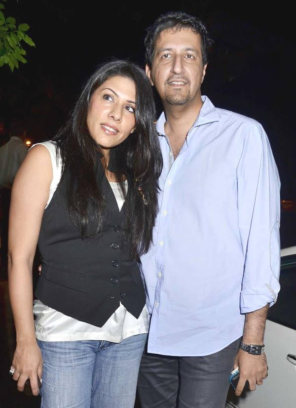 Sulaiman Merchant With His Wife at Cocktail Movie Success Bash