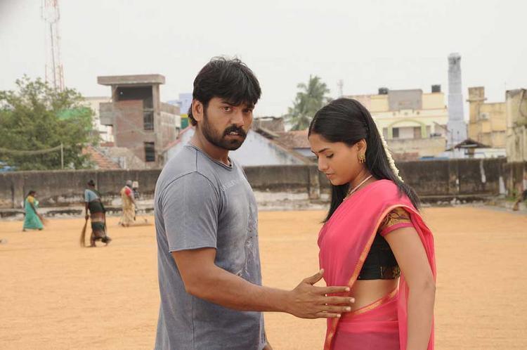 Sabareesh and Sunaina Spicy Still In Pandi Oli Perukki Nilayam Tamil Movie