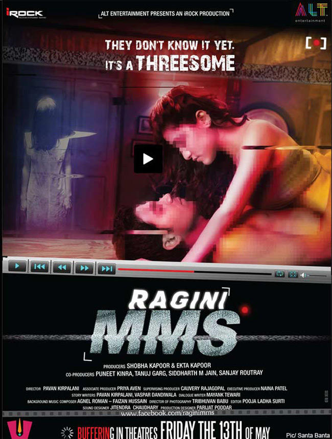 Kainaz Motivala And Raj Kumar Yadav In Ragini MMS Hot Poster
