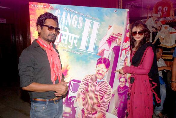 Nawazuddin and Huma Launches Gangs Of Wasseypur 2 Poster