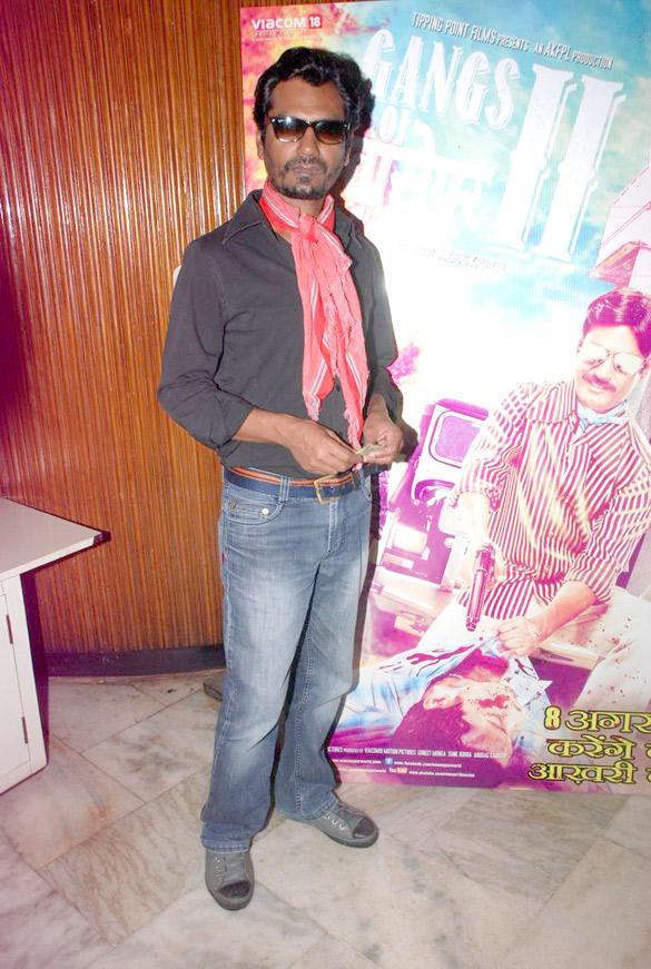 Nawazuddin Siddiqui at Gangs of Wasseypur Part 2 Poster Launch