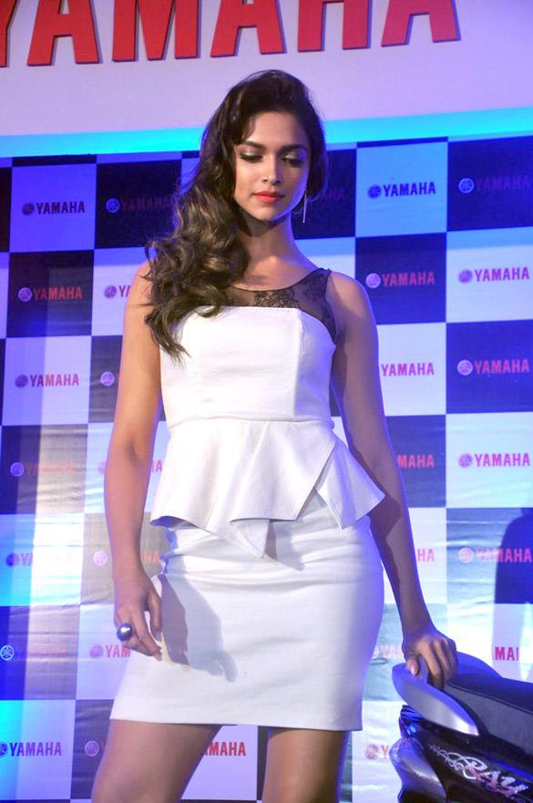 Deepika Padukone During Yamaha Scooter Endorsement Held in Mumbai