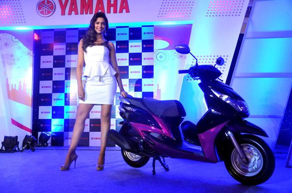 Deepika Padukone at the Launch of Yamaha Ray Scooter
