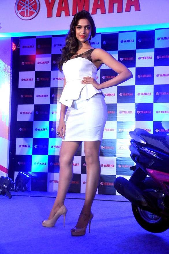 Deepika Padukone Sexy Pose At Yamaha Scooters Event