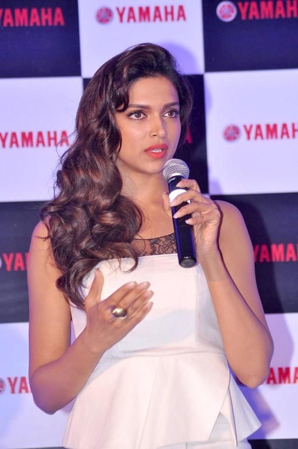 Deepika Speaks During Yamaha Scooter Endorsement Held in Mumbai