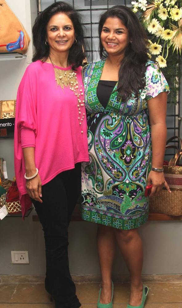 Malini Agarwalla with Daughter Rishika Agarwalla at a Fashion Shop