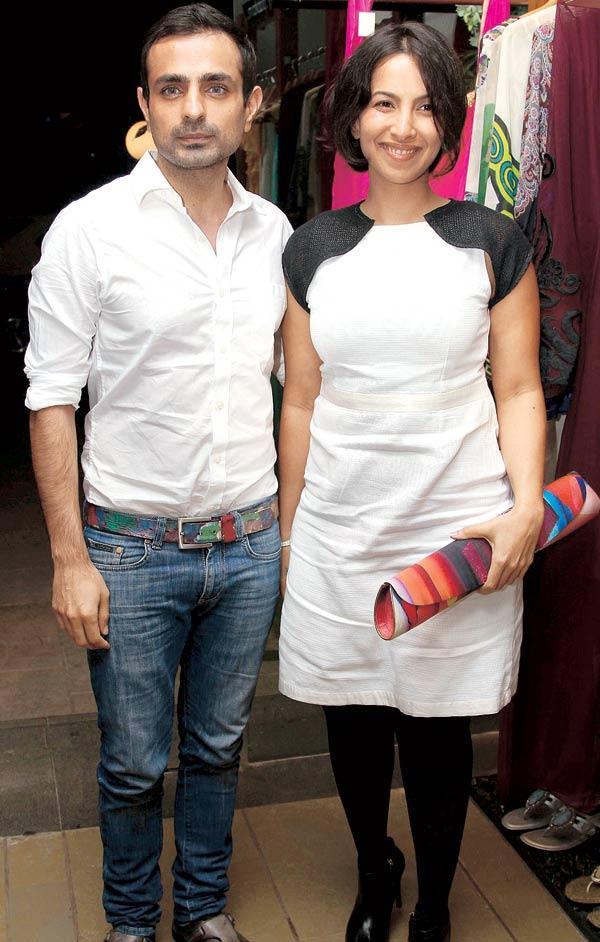 Mayank Anand and Shraddha Nigam at a Fashion Shop