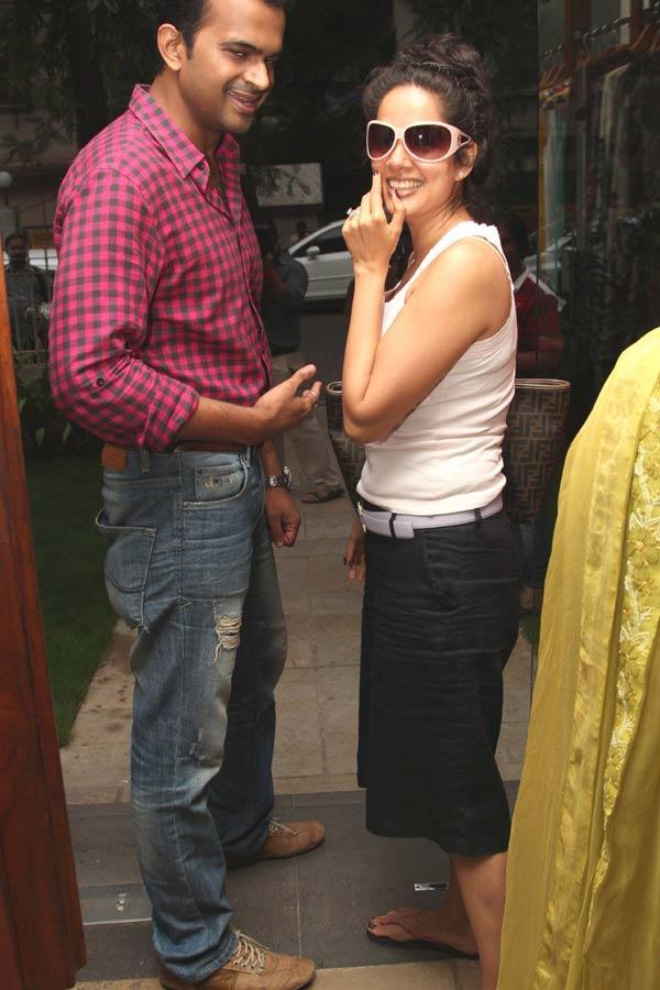 Siddharth Kannan and Vidya Malwade at a Fashion Shop