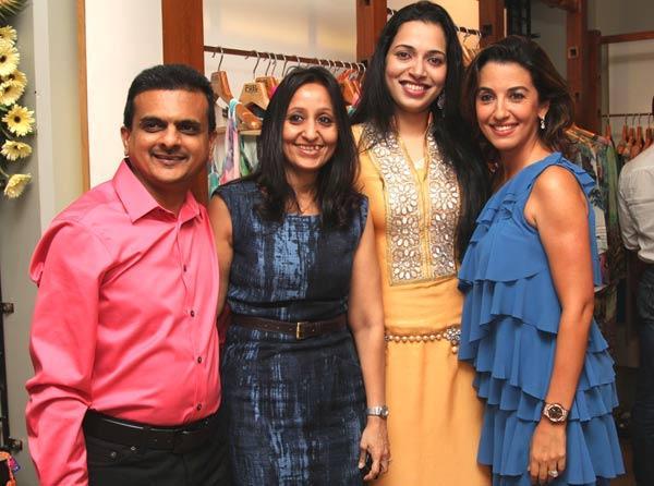 Sushil,Falguni Jhaveri,Aminder Madaan and Parizad Zorabian at a Fashion Shop