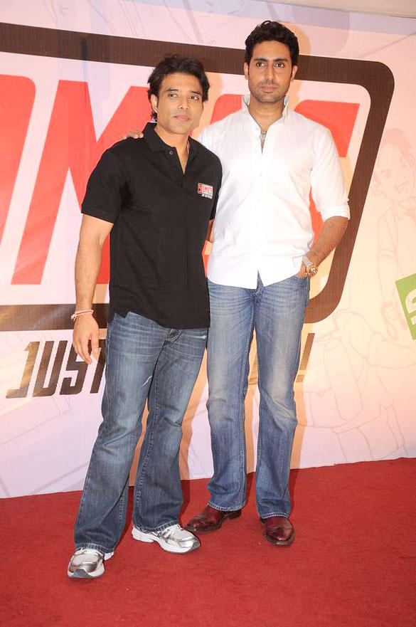 Abhishek and Uday Chopra During The Launch of Yomics Event