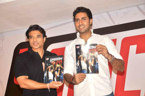Abhishek and Uday Happily Posing With Yomic Book
