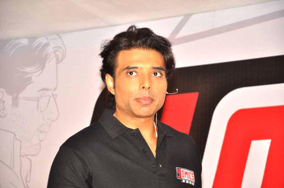 Uday Chopra Close Up Pic During The Launch Of His Own Comics