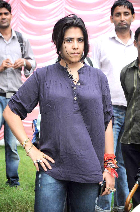 Ekta Kapoor On The Sets Of Pavitra Rishta To Promote Upcoming Film KSKHH