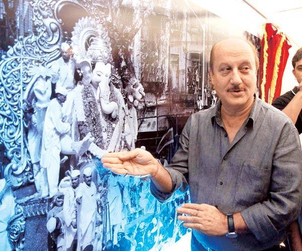 Anupam Kher at Bright Advertising's We Love Mumbai Campaign