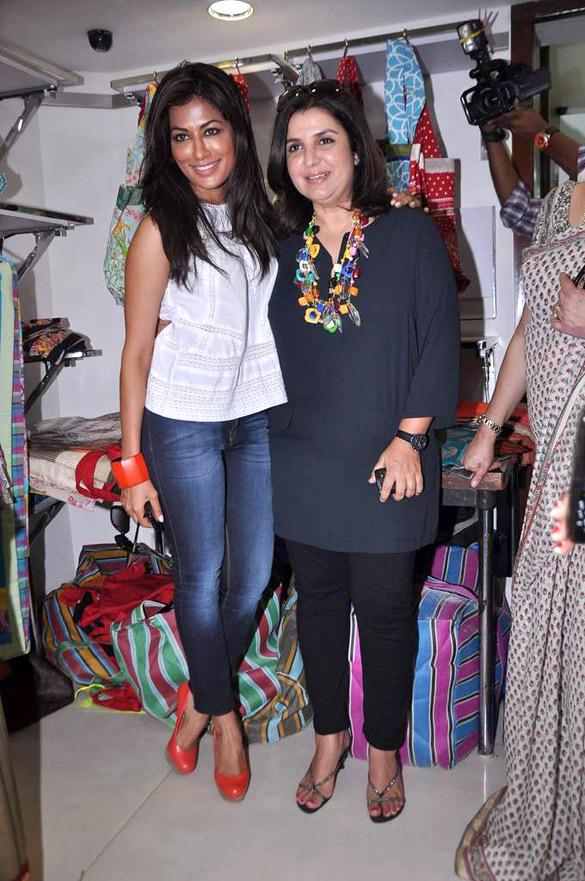 Chitrangada and Farah At A Store Launch In Mumbai