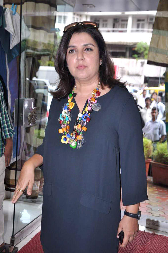 Farah Khan Spotted At A Store Launch In Mumbai