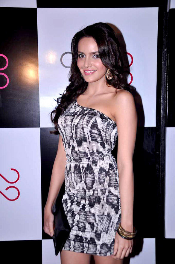 Shazahn Padamsee in Slinky Sexy Snake Print Guess Dress at Ave29 Launch