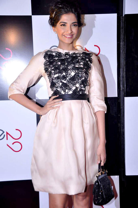 Sonam Kapoor Cute Dress Still at Ave 29 Launch Event