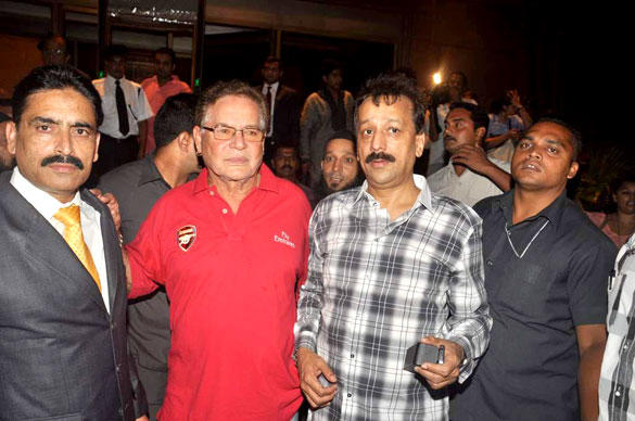 Salim Khan Spotted at Baba Siddique Iftar Party