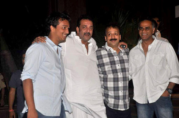 Sanjay Dutt Poses During at Baba Siddique Iftar Party