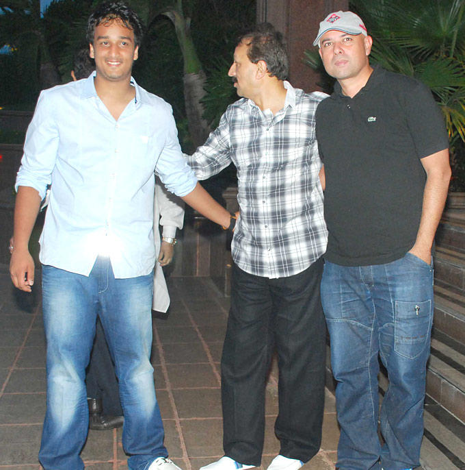 Zeeshan,Baba Siddiqui and Atul Agnihotri at Iftar Party