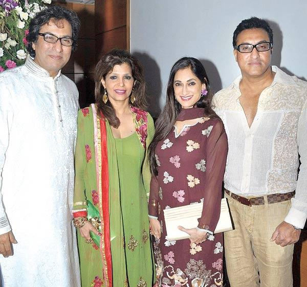 Talat and Bina Aziz with Lucky and Mohammed Morani at Anup Jalota's Birthday Bash