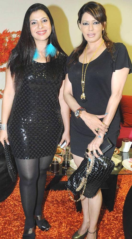 Sambhavan Seth with Poonam Jhaver at Kamaal R Khan House Warming Party