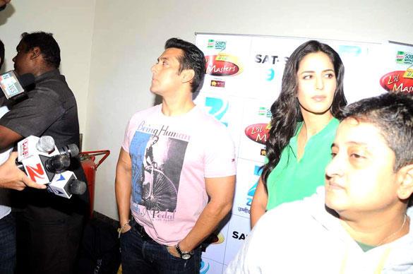 Salman and Katrina Promote Ek Tha Tiger on The Sets of DID L'il Masters