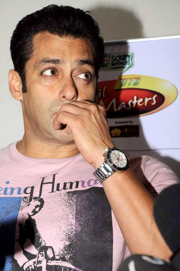Salman khan on The Sets of DID L'il Masters For Promote Ek Tha Tiger