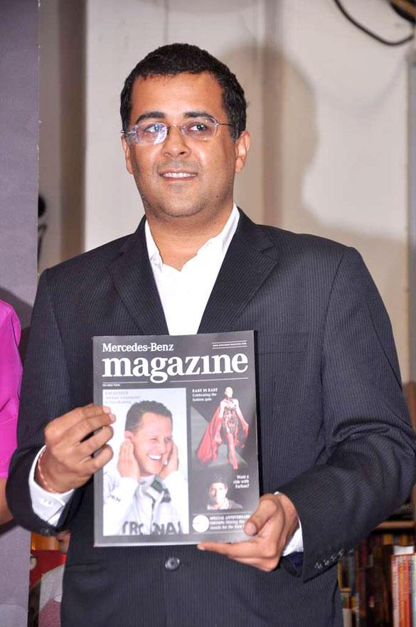 Chetan Bhagat Launches Mercedes Benz Magazine